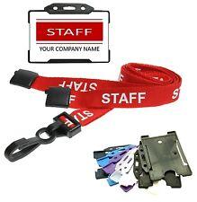Rojo personal tarjeta de identidad con el personal cordón & Id Card Holder-Impresión Personalizados