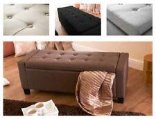 Verona Bedroom Storage Blanket Bedding Box in Fabric - Cream Grey Brown or Black