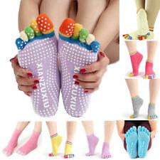 Women Cotton Yoga Gym Toe Colorful Non Slip Massage Socks Full Grip Socks Heel