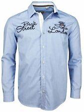 Lonsdale Langarmhemd Kilian Blau / Weiß Kariert 111203 Longsleeve Shirt  5289