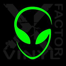 alien head vinyl decal sticker UFO area 51 3 sizes 15 colors! free/FAST ship!