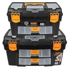Plastic DIY Mano Toolbox Lockable Storage Compartment Organiser Removable Tray