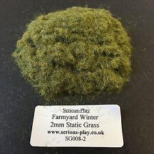 Serious-Play Farmyard Winter Static Grass 2mm -Model Scenery Warhammer Railway