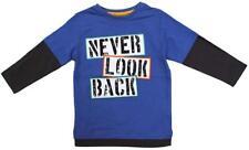 Niños nunca look Espalda SKATER Manga Camiseta Algodón Top 1.5 to 6 años