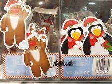 Xmas Battery Operated 8 LED Static Santa Novelty Lights Penguin Reindeer Decor