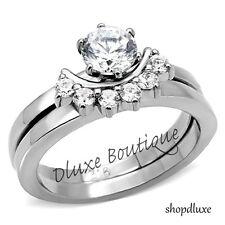1.25 Ct Round Cut CZ Wedding & Engagement Ring Set Women's Size 5,6,7,8,9,10