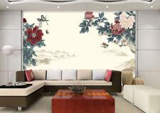 3D Rouge Jasmin  Photo Papier Peint en Autocollant Murale Plafond Chambre Art