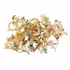 1 Lot Enamel Metal Alphabet Letter Charm Pendant Jewelry Making Accessories DIY