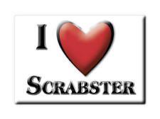 SOUVENIR UK - SCOTLAND MAGNET UNITED KINGDOM I LOVE SCRABSTER (HIGHLAND)