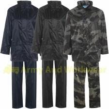 Impermeable Set Traje Capucha Chaqueta y pantalones aspecto mojado