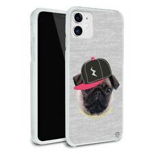 Tough Pug Puppy Dog in Cap Hat Apple iPhone 8, 8 Plus, X, 11 Case