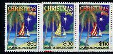 Cocos Keeling set 1989 Natale sg211 / 3 MNH