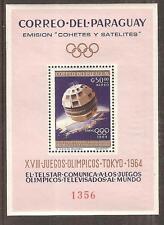 PARAGUAY # 813a Perforated Variety MNH SUMMER OLYMPICS TOKYO JAPAN 1964
