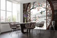 3D Blumen Garten Vogel 9687 Tapete Wandgemälde Tapeten Bild Familie DE Kyra