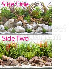 "Seaview Crisp River/Coastal Hues 12"" Inch Aquarium/Terrarium Background"