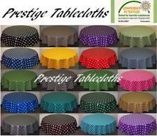 Round Polka Dot Spots PVC Vinyl Tablecloth ALL SIZES by PRESTIGE TABLECLOTHS