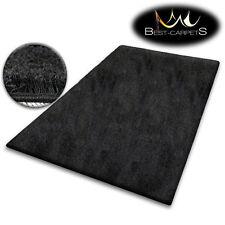 pas cher doux Tapis POILU 5cm noir haute qualité NICE en Touche beaucoup taille