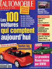 l'Automobile Apr 1994 Renault Clio, Espace, French Text