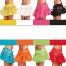 Petticoat kurz, verschiedene Farben Deluxe Tüllrock für Karneval und Fasching