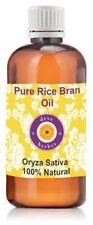 deve herbes Pure Rice Bran Oil Oryza sativa 100% Natural Cold Pressed