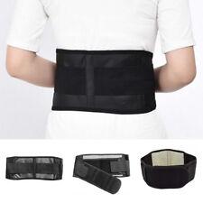 Neoprene Lower Back Support Belt Lumbar Brace Waist Posture Pain Relief Black