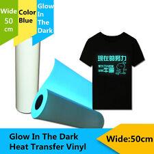 Blue Glow in the Dark HEAT TRANSFER VINYL (HTV) Heat Press Tshirt Printing Hots