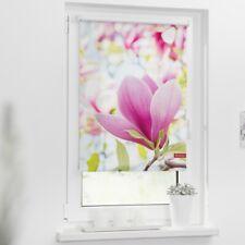 Lichtblick Rollo Klemmfix, ohne Bohren, blickdicht, Motiv Magnolie, Farbe rosa