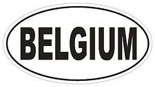 BELGIUM Oval Bumper Sticker or Helmet Sticker D2147 Country Euro Oval