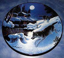 NIGHTWATCH THE WOLF Winter Passage BRADFORD EXCHANGE PLATE