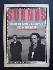 SOUNDS MAR 21 1987 U2 MARC ALMOND MEGADETH IT'S IMMATERIAL SIMON NAPIER BELL