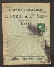"""PARIS (I°) USINE de BONNETERIE / GANTERIE / CHAUSSURES """"J. FORET & Cie"""" en 1912"""