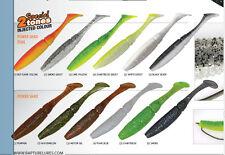 Rapture soft plastic power shads lures. 4 sizes 2 tones  6 colours  power bait