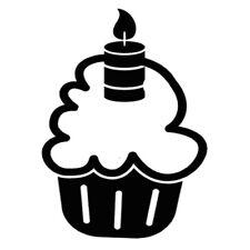 Sticker Cuisine Gâteau Cupcake Nuage Bougie Dessert Gourmand (CUIS085)