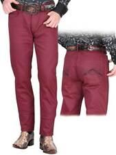 Men's Coated Jeans El General Limited Edition Color Wine