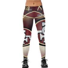 San Francisco 49ers Womens Leggings Pants Tights Fitness Running NFL S-4XL