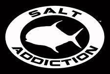 Salt Addiction Permit decal,saltwater fishing sticker,flats,reel,life,rod,ocean
