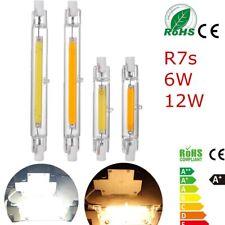 6W/12W R7s COB LED Bulbs 78mm/118mm Security Flood Light Replace Bulbs Dimmable