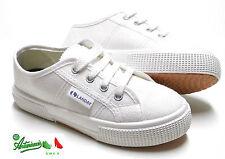 Scarpe sportive economiche modello Superga tela bianca gomma TENNIS RECITE SAGGI