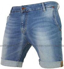 Bermuda Uomo Jeans KLIXS Denim Made in Italy pantaloncini slim elasticizzati 171