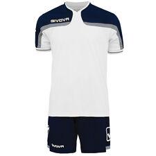 Givova America Mens FULL Football team strip Kit White/Blue Shorts Socks Shirts