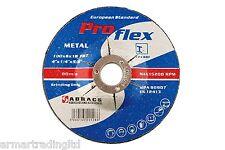 "x 10 métal abrasif disques 100mm/4 "" 115mm 230mm x 6.4mm Pro-Flex Abracs"