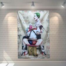 Suicide Squad Movie Harley Quinn Flag Joker Polyester Banner Home Decoration