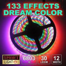 1M - 5M Addressable RGB 5050 Magic Dream Color 6803 IC 133 Effects RGB LED Strip