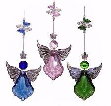 🌈jll💜1 GUARDIAN ANGEL CRYSTAL SUNCATCHER gift -car mirror baby birthday love