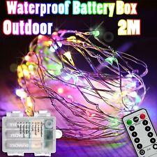 1-20x 2M LED Rainbow Multi Colour Christmas Fairy Light Sealed Waterproof Garden