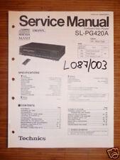 Service Manual Technics SL-PG420A  CD-Player,ORIGINAL