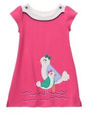 GYMBOREE SHORE TO LOVE PINK w/ BIRDS KNIT FLEECE DRESS 6 12 18 24 2T 4T NWT