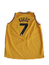 Toni Kukoc Signed JugoPlastika 3x Champ Away Yellow Jersey JSA
