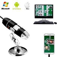 1000X 1600X Digital Microscope 8 LED Endoscope USB Zoom Magnifier Camera Stand
