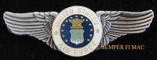 US AIR FORCE SEAL LOGO WING PIN UP PILOT CREW GIFT RETIREMENT AFB USAF VETERAN